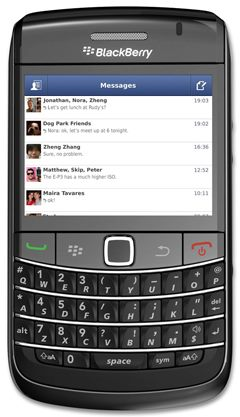 Facebook Messenger gets an update, now available for BlackBerry