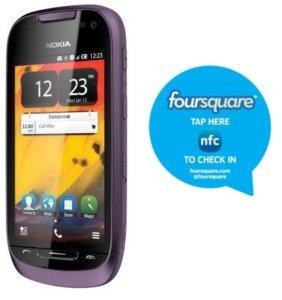 Foursquare app updates, is now NFC enabled for Nokia NFC devices