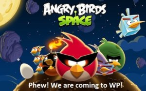 Phew! Angry Birds Space will come to Windows Phone
