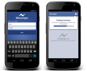 Facebook updates Messenger for Android, sign up with just name & phone number