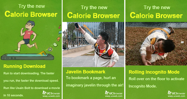 UC Browser prank lets you burn calories while you surf the web using the Calorie Browser