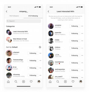 Instagram now shows you most interacted and least interacted accounts