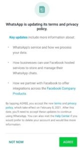 WhatsApp makes accepting new terms mandatory to continue using app