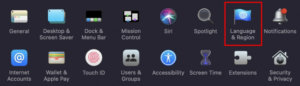 How to change language for an application in macOS