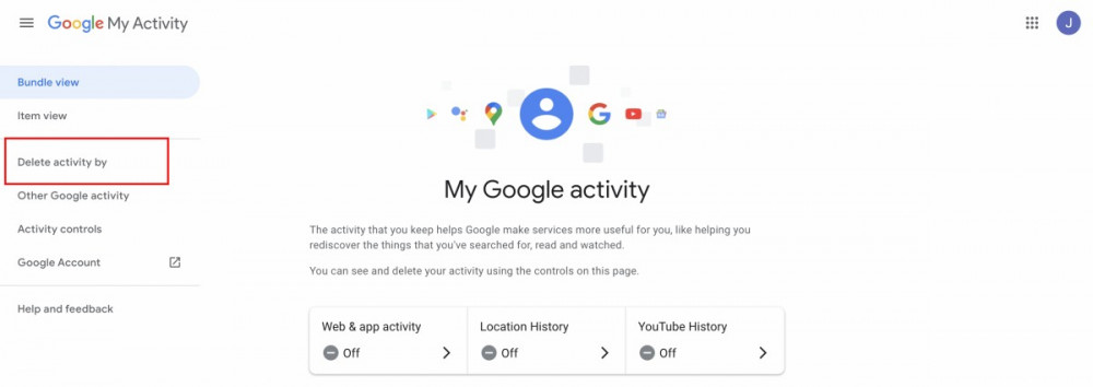 How to delete your Google search history data